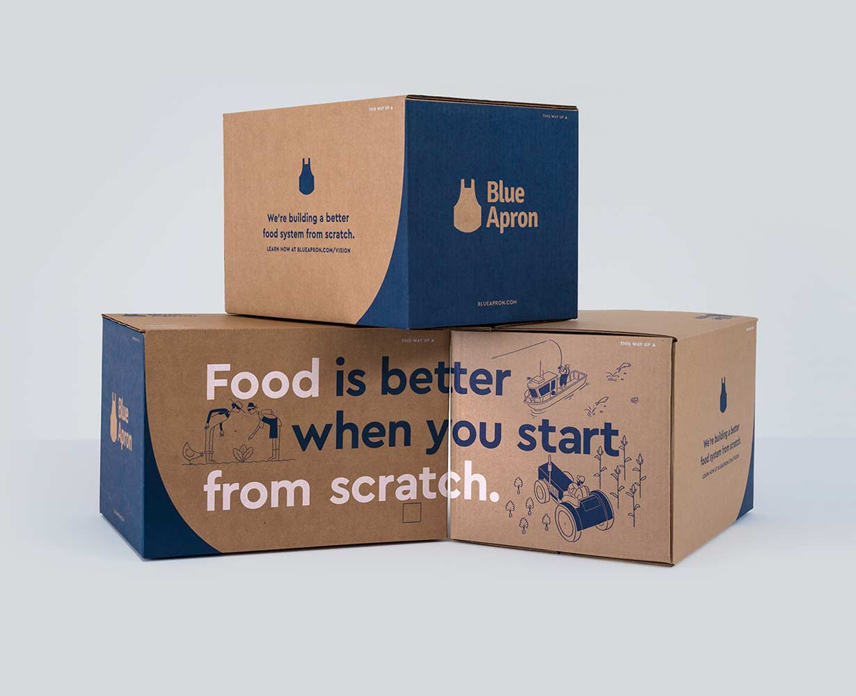Blue Apron Food Boxes